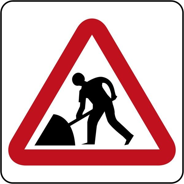 sign of road works