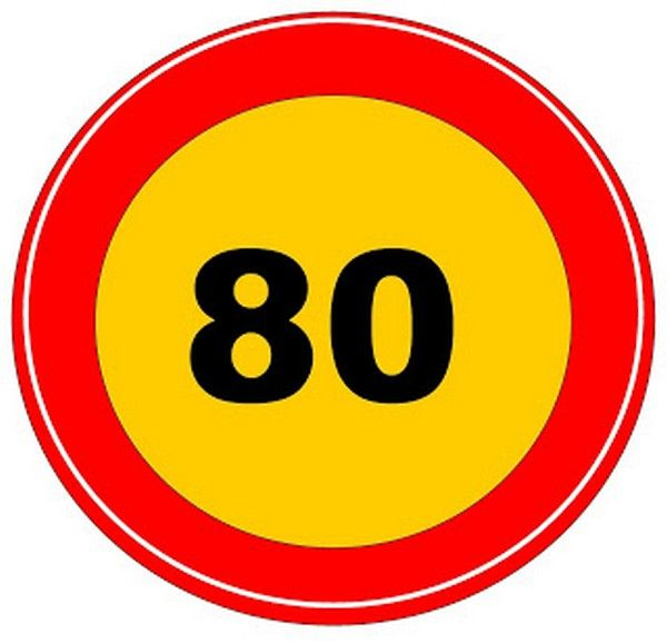 road sign of max speed limit