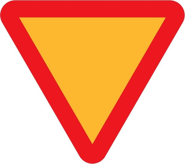 Yield sign in Nigeria