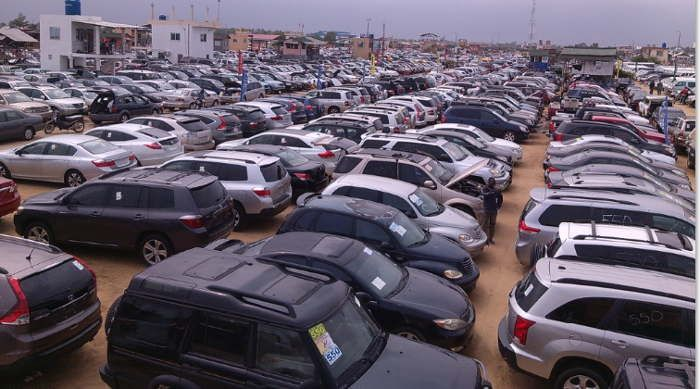 a used car market