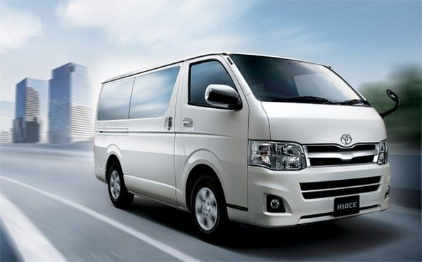 a brand new Toyota HiAce