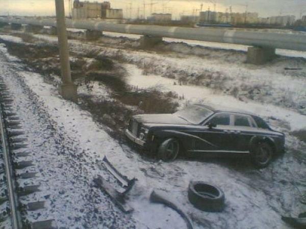 the abandoned Rolls-Royce Phantom