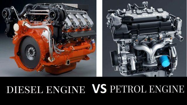 a petrol engine and a gasoline engine