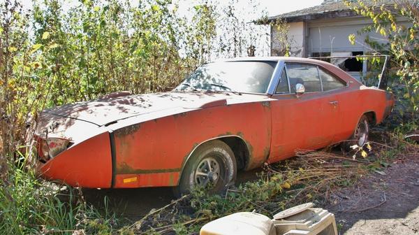 abandoned 1969 Dodge Charger Daytona