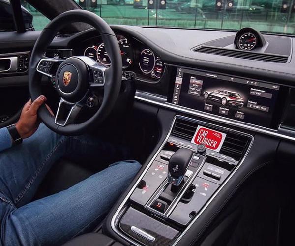 The man driving a Porsche