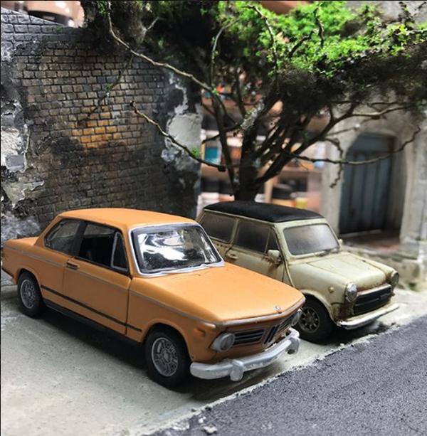 Miniature cars parking