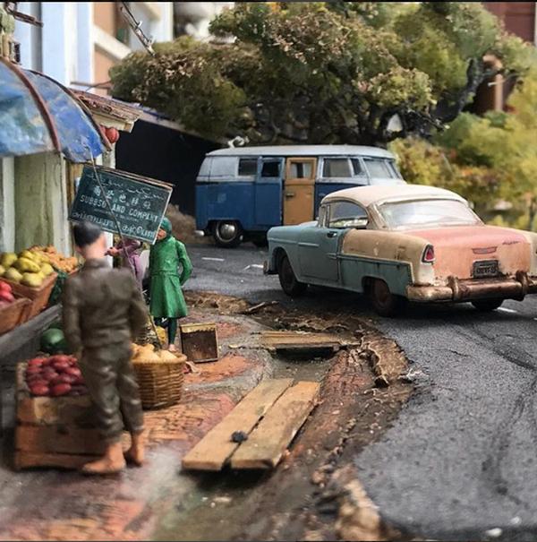 a Eddie Putera's Miniature cars on street