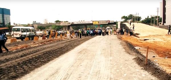 Oshodi international airport construction in Lagos