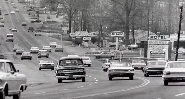 USA road in 1960s