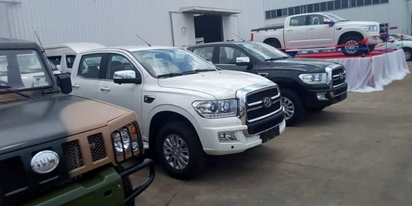 Innoson cars at the unveiling of the Innoson IVM Granite