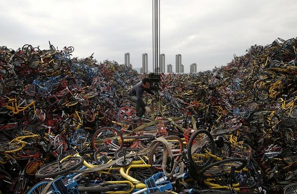abandoned bike crisis in China