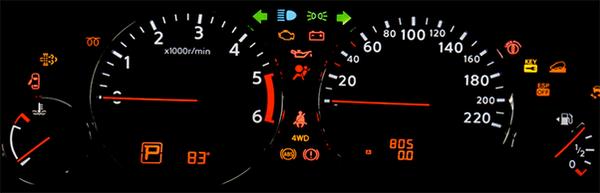 The car dashboard