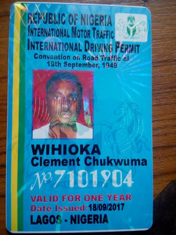 International drivers license in Nigeria