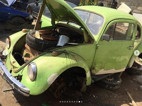 the 1966 Voklswagen Beetle before transformation