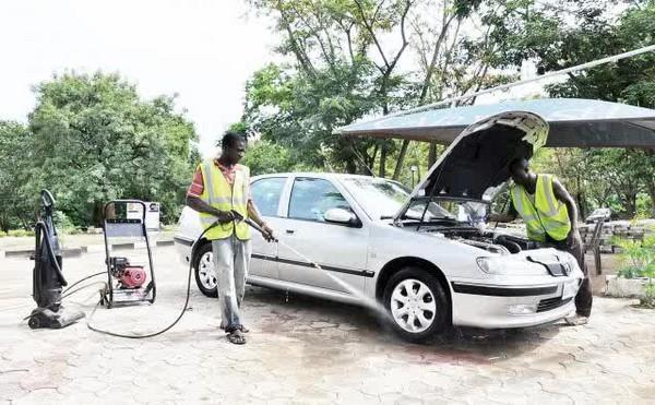 a car wash shop in Nigeria