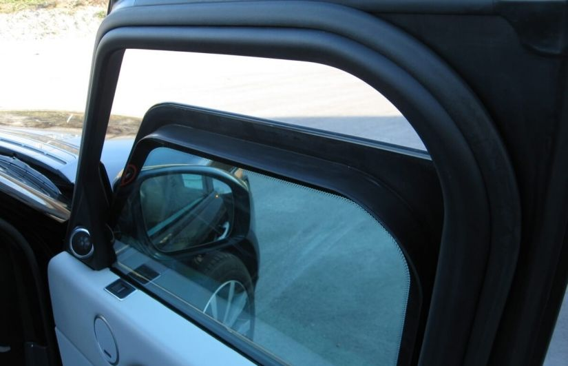 the window of an amored vehicle