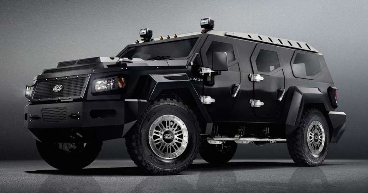 an armored vehicle