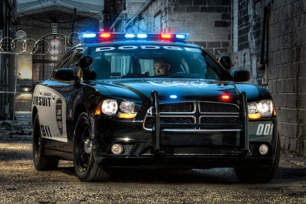 the black Dodge Charger of US police