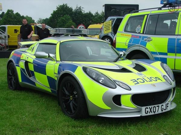 a Lotus Exige car of Australian police