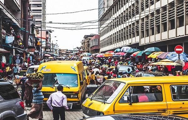 a Lagos street corner