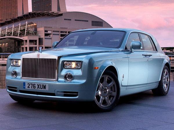 a blue Rolls-Royce