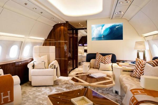 Abrahimovic's private jet interior