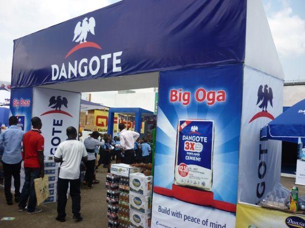 Dangote stand in Lagos International Trade Fair