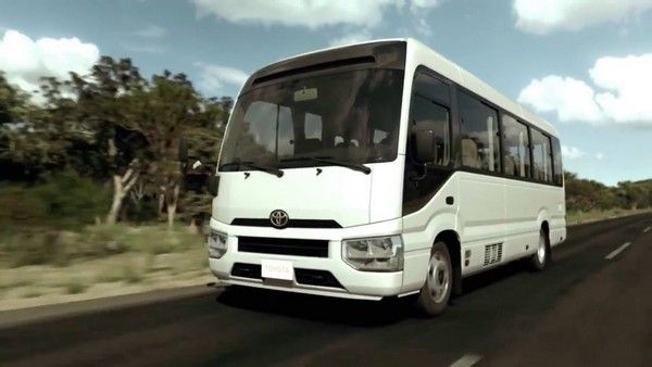 Toyota Coaster 2017 on road