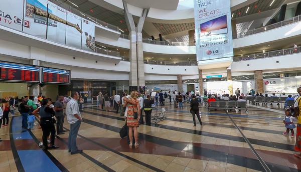 passengers at Johannesburg O.R Tambo International Airport