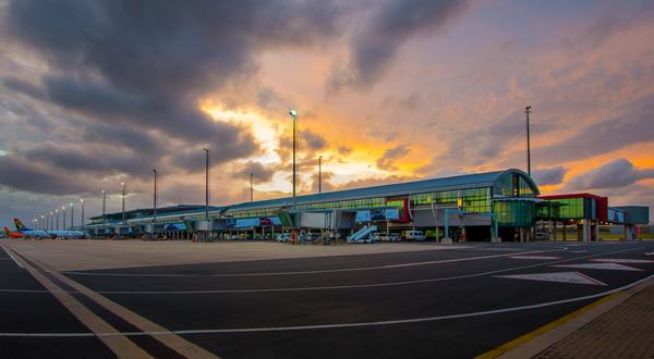 Landscape of the Durban King Shaka international airport