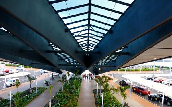 the entrance of Sir Seewoosagur Ramgoolam International Airport