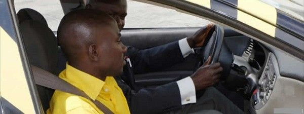 learner driver and instructor