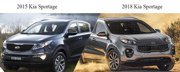 Kia Sportage 2015 vs Kia Sportage 2018