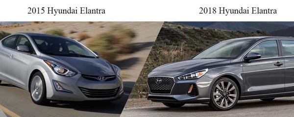 Hyundai Elantra 2015 vs Hyundai Elantra 2018