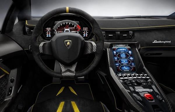 the front fascia of the 2017 Lamborghini Centenario