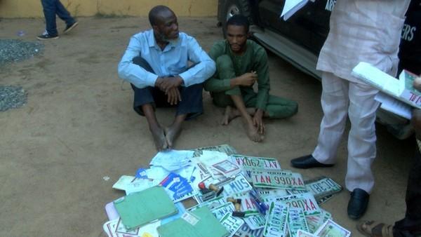 Nigerian fake car plate makers