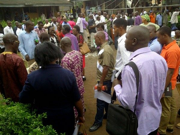 people waiting at FRSC office