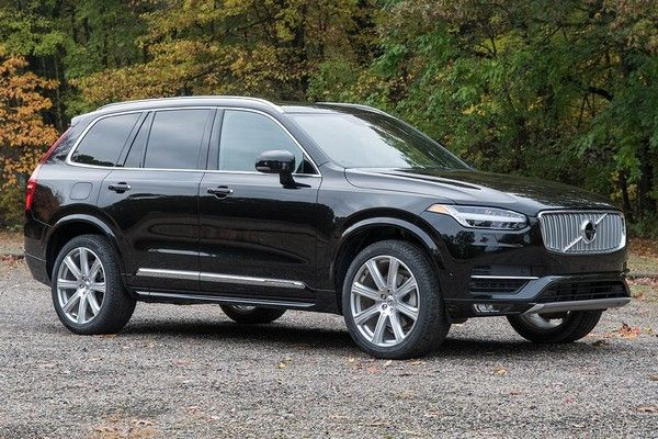 a black Volvo XC90 car