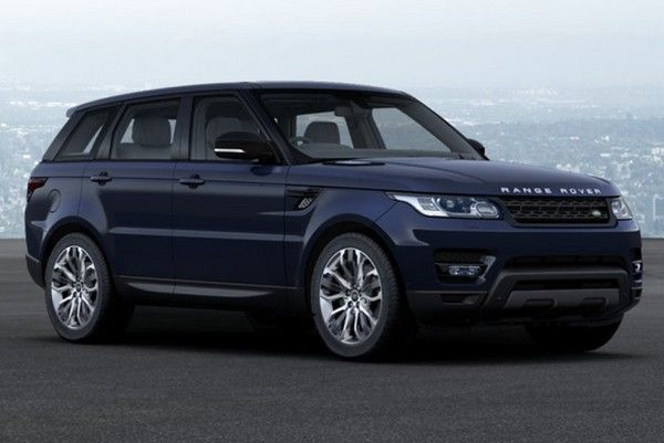 a dark blue Land Rover Range Rover Sport diesel car