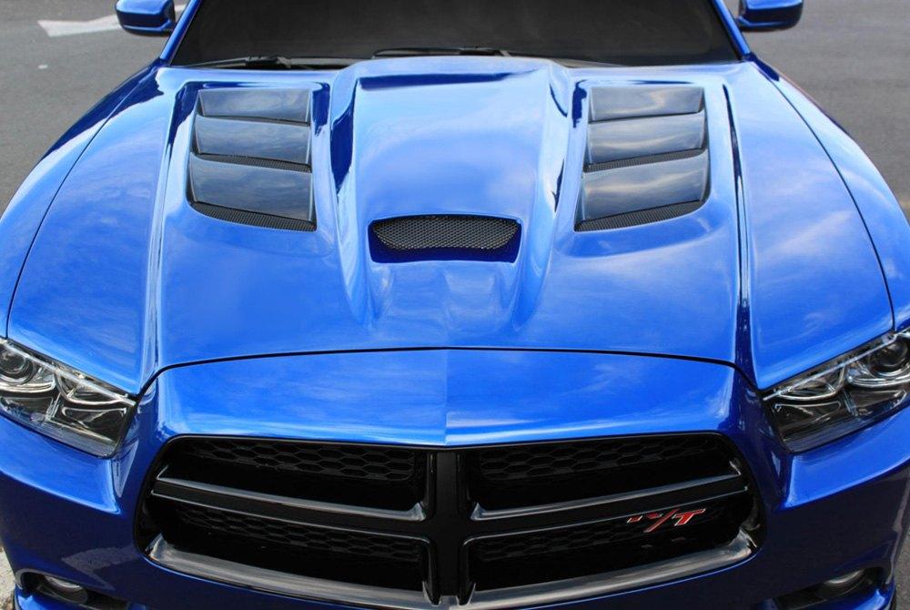 the hood of a car