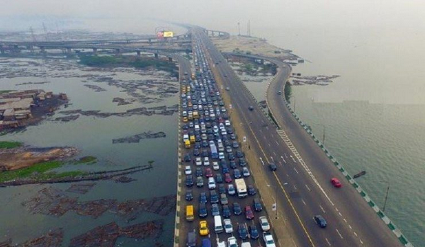 The Third Mainland Bridge viewed from above