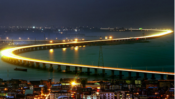 The Third Mainland Bridge at night
