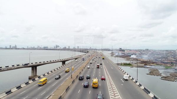 Traffic on the Third Mainland Bridge