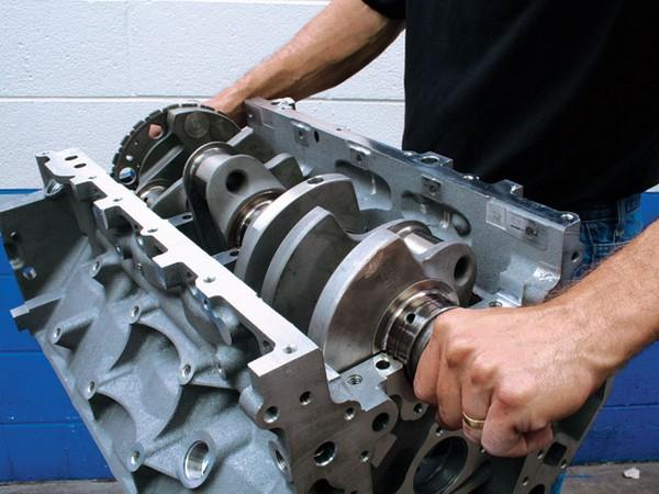 a short block engine of car