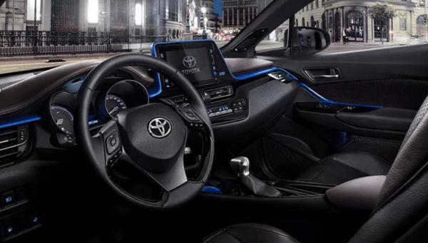 The interior of the Toyota Corolla 2020