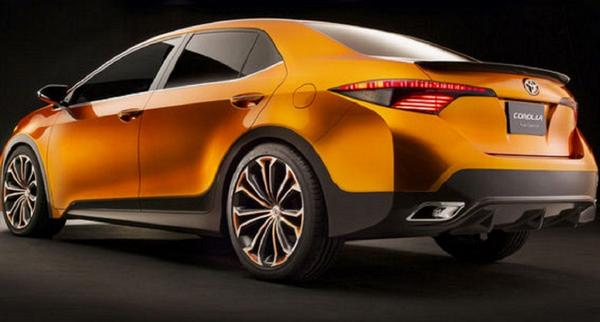 The angular rear of the Toyota Corolla 2020