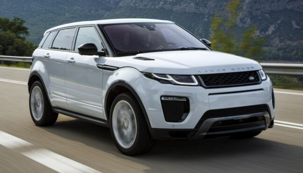 Angular front of the Land Rover Range Rover 2019