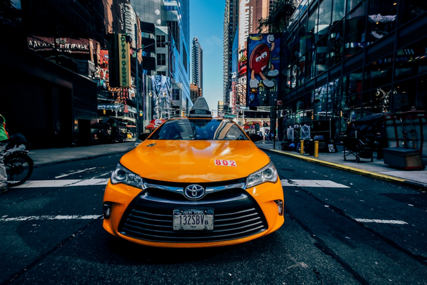 The front of the Toyota Corolla 2018