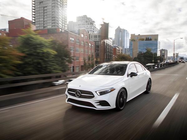 The Mercedes-Benz A-Class 2019 running on roads