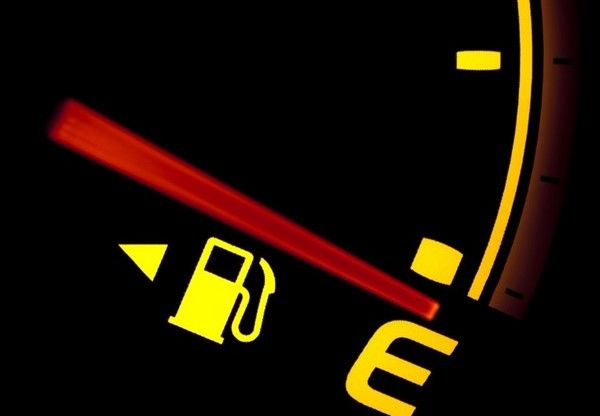 the low fuel indicator